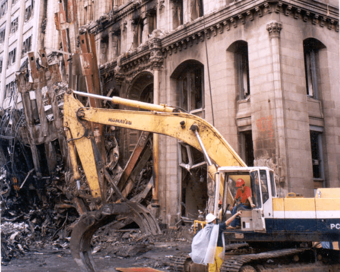 JBCI demolishing building